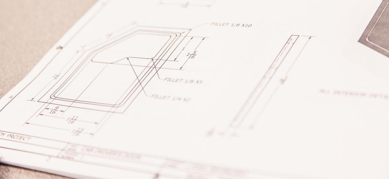 Image of CAD blueprint drawings